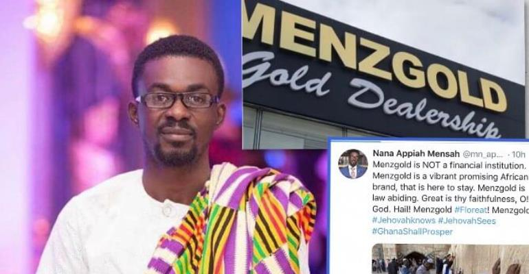 "Nana Appiah Mensah (NAM1) Reacts To Finance Minister's claim:"" Menzgold is here to Stay"""