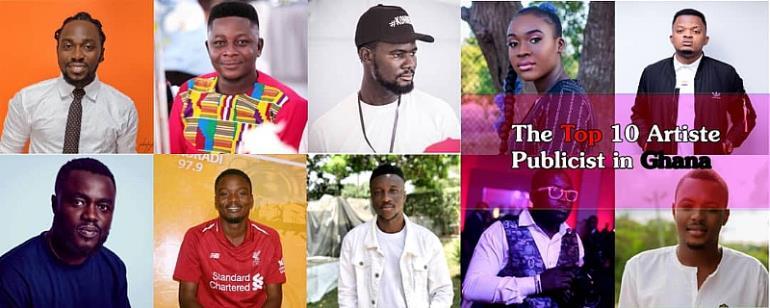 Meet the top 10 Artist Publicist in Ghana