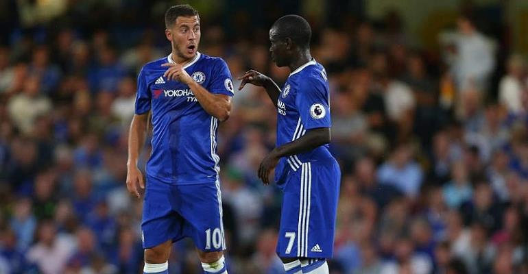 Hazard And N'Golo Kante Voted Into UEFA's Team Of The Year