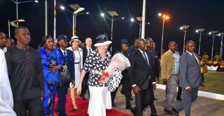 Accra: Danish Queen Margrethe II Arrives In Ghana