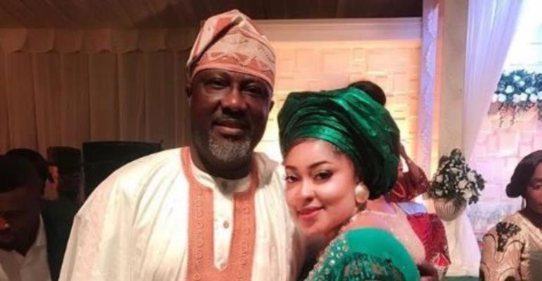 Actress, Biodun Okeowo Uses Killer Curves to Hold Down Senator Dino Melaye at Event