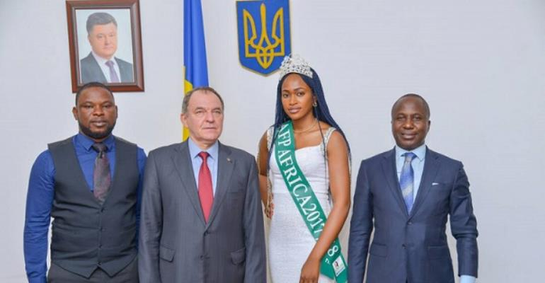 Miss Ambassador For Peace Africa Confirms Partnership With Ukraine Embassy On Peace Education Campaign