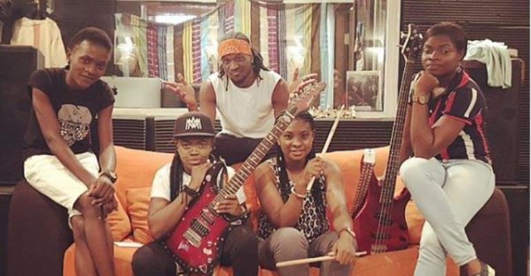 Singer, Paul Okoye Unveils All-Female Band