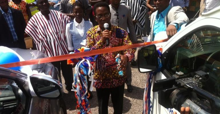 Prof. Yankah Makes Caes For Bolga PolyProfessor Yankah cutting tape to hand over vehicles to Bolgatanga Polytechnic