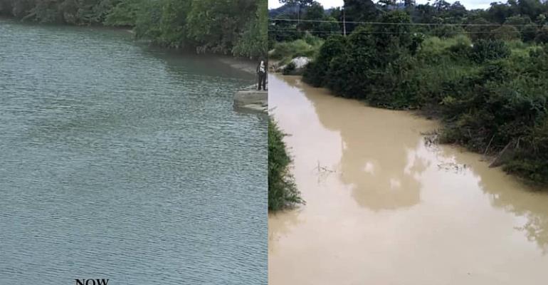 Ankobra River in Ellembelle District