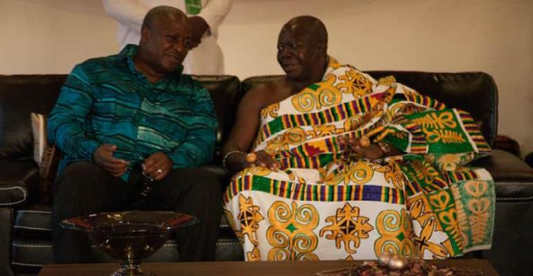No, It Was Rather Mahama Who Disrespected Otumfuo