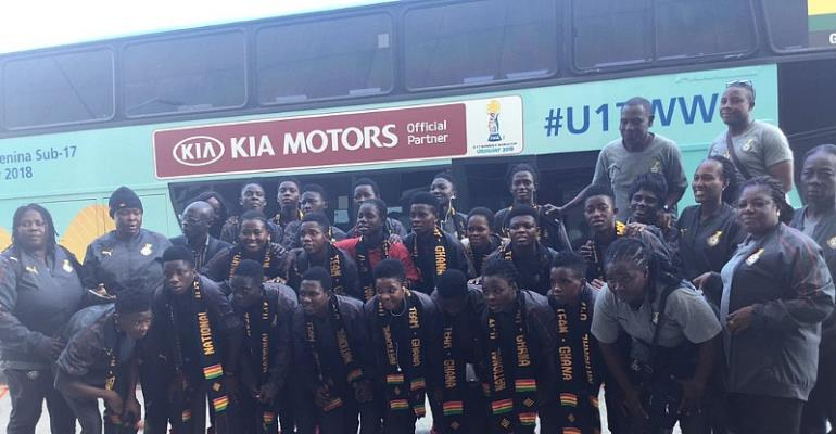 FIFA U-17 WWC: Black Maidens Arrive In Uruguay [PHOTOS]