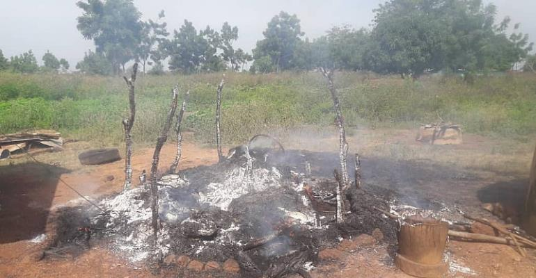 Dirty Scenes In Yendi: Konkombas, Dagombas Clash;, Houses Burnt