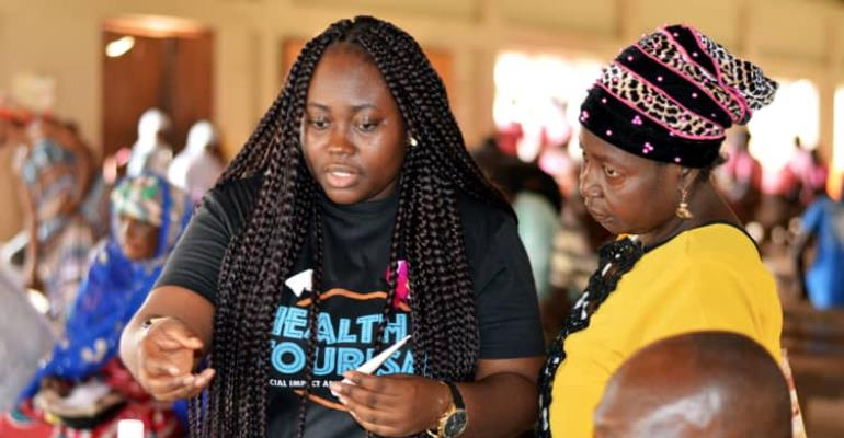 Final Year T.F.D Student Of The University Of Ghana Impacts Hundrerds In Salaga