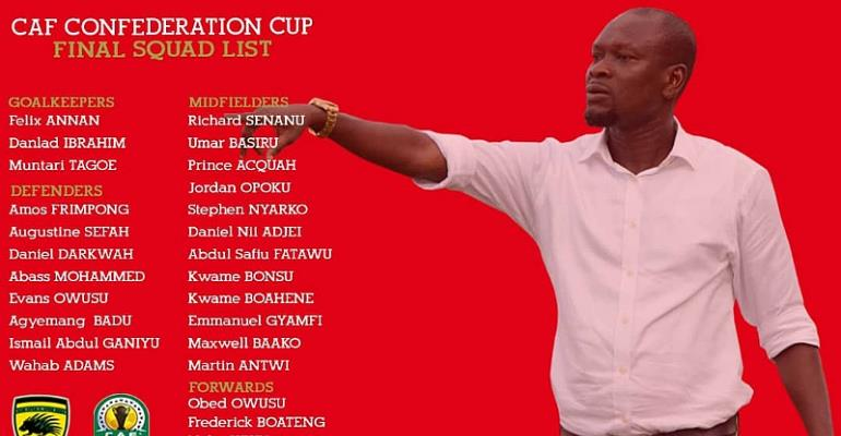 CONFIRMED: Asante Kotoko Submit Final Squad For CAF Confederation Cup Campaign