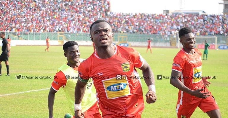 Kotoko Captain Amos Frimpong Celebrating His Goal Today