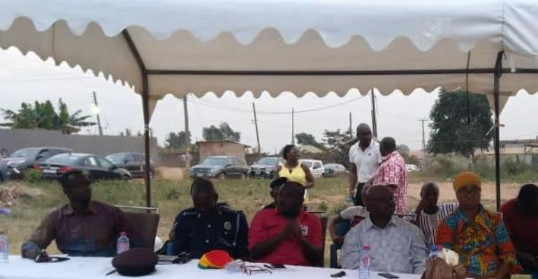 L-R: ACP Joseph Oklu Gyamera, DSP John Nuertey, Mr. Moses Anim, Mr. David Tetteh and Hajia Alimatu