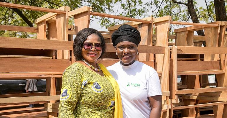 Guba Foundation Donates 100 Study Desks To Tolon SHS