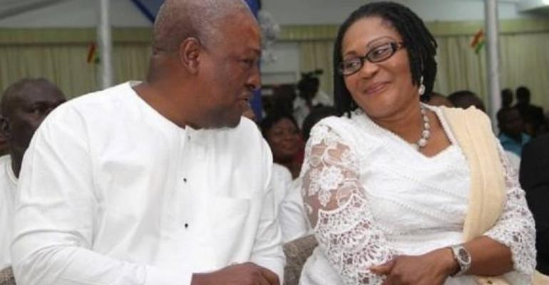 President John Dramani Mahama attended the thanksgiving church with his family