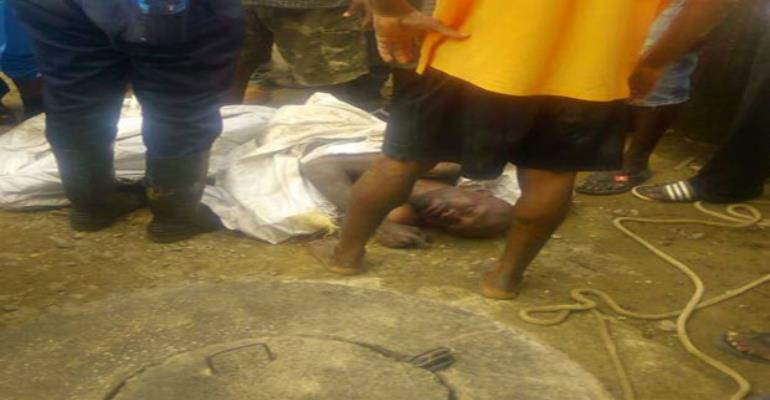 The Thief Lying Unconscious After He Was Rescued