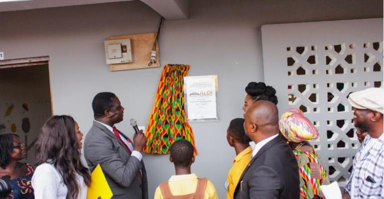 Afuaman M.A Basic School Benefits From ALDI Education Project