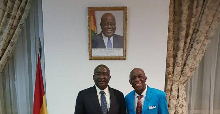 Dr. Thomas Mensah Talks Infrastructure With Vice President Bawumia