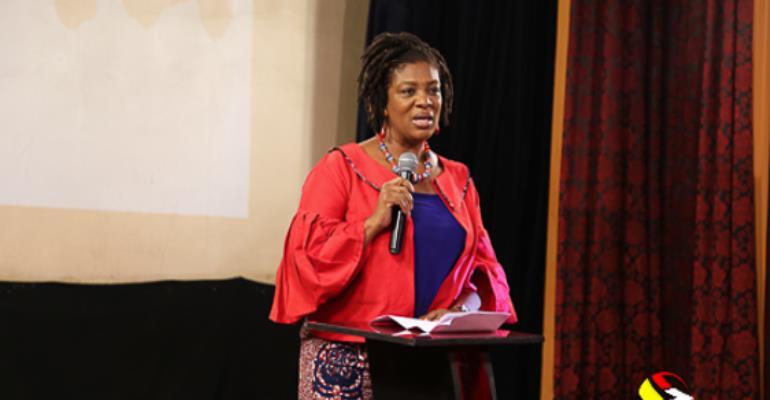 Pearl Esua-Mensah, Group CEO, Media General Speaking at the Premiere of Sadia