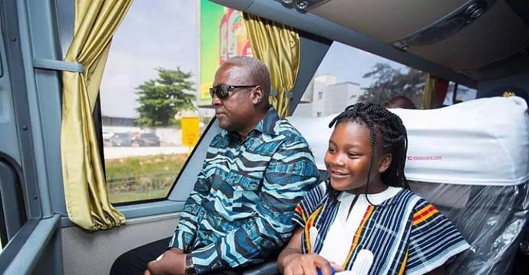 President John Mahama and his daughter, Farida Gyamfua Mahama