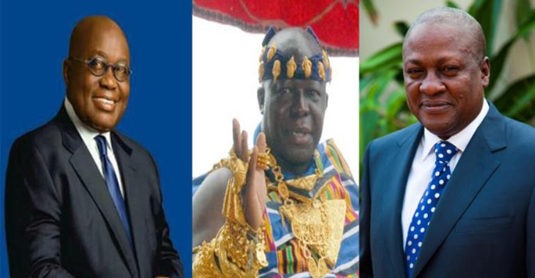Nana Akufo-Addo, Otumfuo Osei Tutu II, President John Mahama