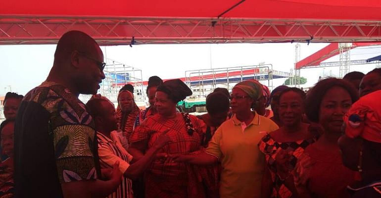 Richard Ahiagbah, NPP's General Secretary Hopeful in a chat with women Organisers