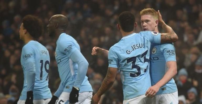 Man City Thump Tottenham For 16th Consecutive Win