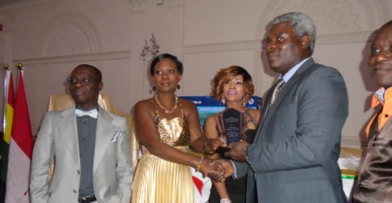 Winners receiving their awards with joy