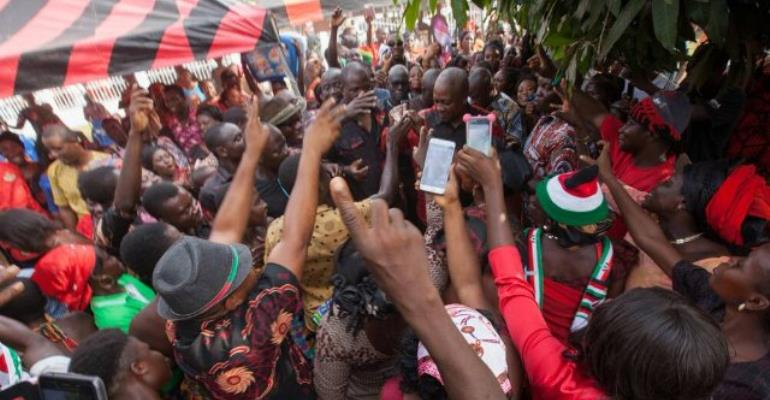 Mourners At Kpando Funeral Cheer On Mahama