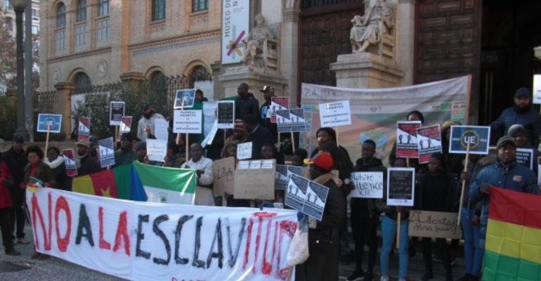 African Community In Spain Demonstrate Against Slavery In Libya