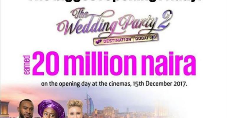 'Wedding Party 2' Wrecks in N20 Million in One Day