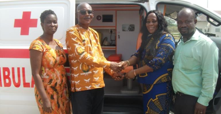 Tain DCE Handed Over Ambulance To Seikwa Health Center