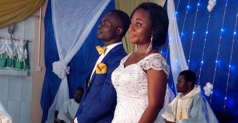 Asante Kotoko captain Amos Frimpong weds girlfriend Judith Amoako Acheampomaa