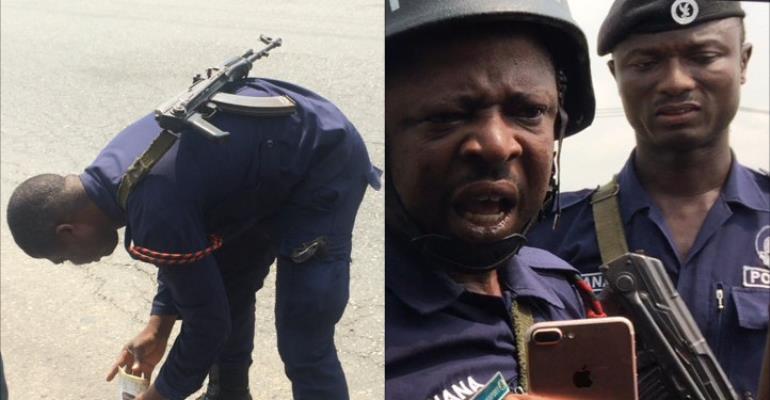 Highway Patrol Police officer exposed