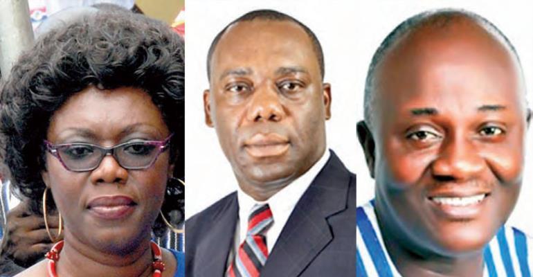 Ursula Owusu-Ekuful,Dr Mathew Opoku-Prempeh andDan Botwe