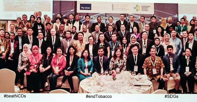 Local leaders from Asia Pacific nations commit to #endTobacco and #beatNCDs