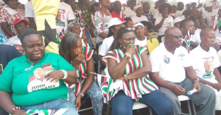 Tears Flow As Mahama Cuts Sod For Eastern Uni.