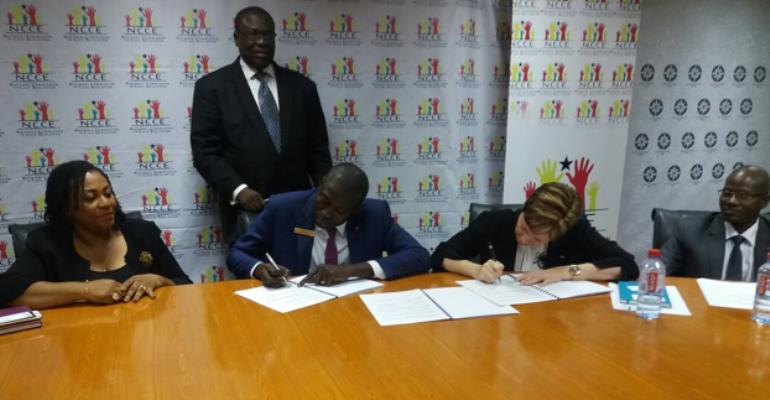 NCCE And JCI Ghana Signs Mou On The Implementation And Promotion Of A National Active Citizens Campaign
