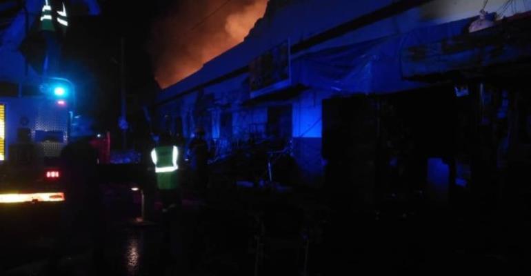 Kumasi: Fire Ravages Shops