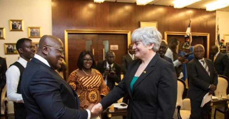 U.S. Ambassador To Ghana Presents Credentials To President Akufo-Addo