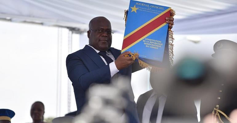 New Congo leader honors father as 'president'