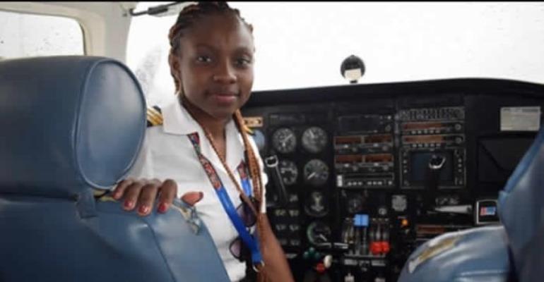 Legon University Basic School Celebrates Female Pilot