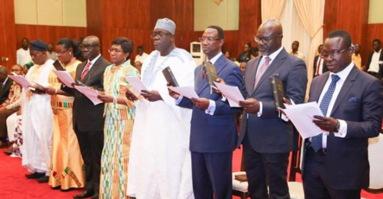 Nana Addo Swears In 8 New Envoys