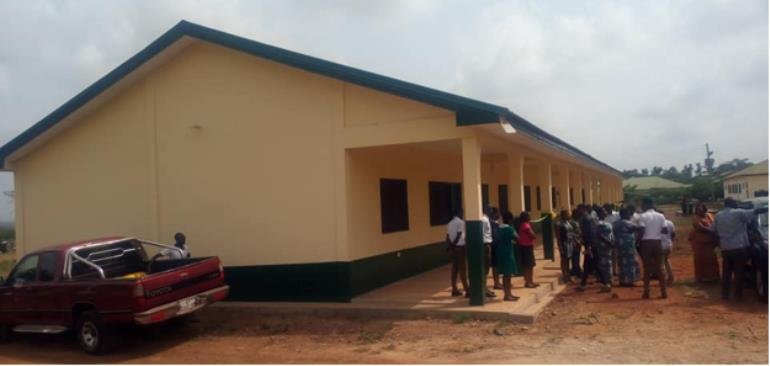 The Newly Constructed Six (6) Unit Classroom Block