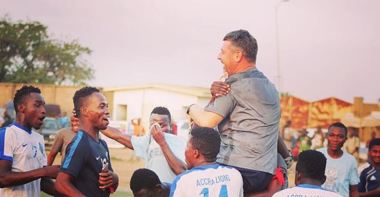 Accra Lions FC Snatch Greater Accra Division One League Ticket With Three Straight Wins