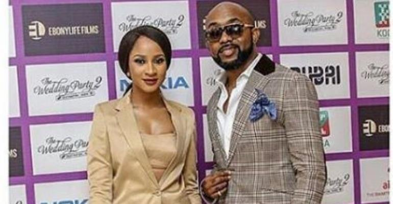 Latest Couple Banky W, Adesua Officially Steps out for Movie Premiere