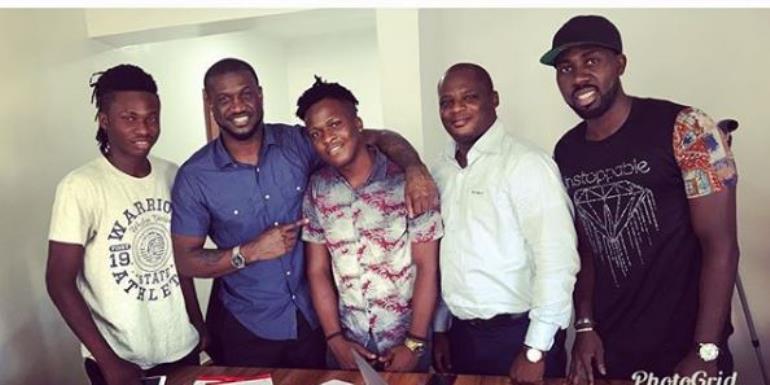 Singer, Peter Okoye Signs New Artiste, Singah to P-Classic