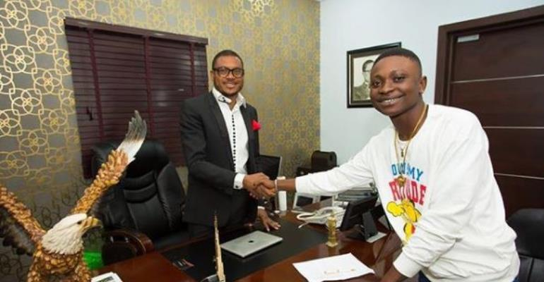 Quilox Boss, Shina Peller Appreciates singer, Airboyrado for Making him proud