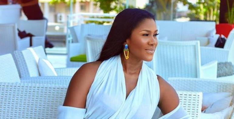Actress, Stephanie Linus Looking Angelic in All White Outfit