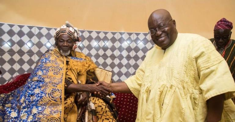 President Nana Akufo-Addo with the new Ya-Naa