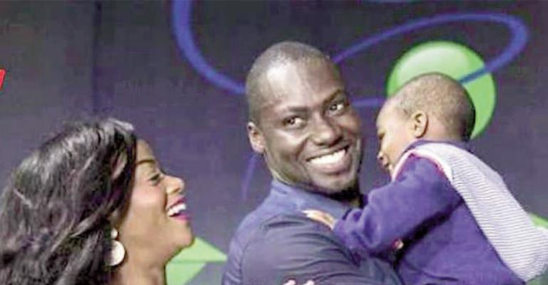 Chris Attoh with ex-wife and their child